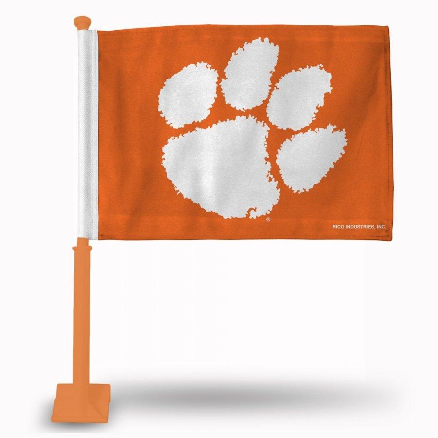 Clemson Tigers Car Flag with Orange Pole
