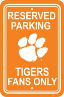 Clemson Tigers College Parking Sign
