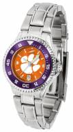 Clemson Tigers Competitor Steel AnoChrome Women's Watch - Color Bezel