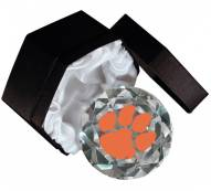 Clemson Tigers Crystal Diamond Paperweight