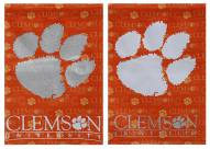 Clemson Tigers Double Sided Glitter Garden Flag