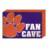 Clemson Tigers Fan Cave Wooden Plock