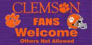 Clemson Tigers Fans Welcome Wood Sign