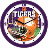 Clemson Tigers Football Helmet Wall Clock