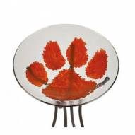 Clemson Tigers Glass Bird Bath