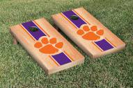 Clemson Tigers Hardcourt Stripe Cornhole Game Set