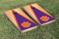 Clemson Tigers Hardcourt Triangle Cornhole Game Set