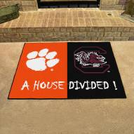 Clemson Tigers/South Carolina Gamecocks House Divided Mat