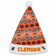 Clemson Tigers Knit Santa Hat