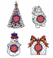 Clemson Tigers LED Christmas Tree Ornaments
