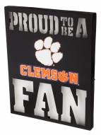 Clemson Tigers Metal LED Wall Sign