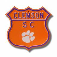 Clemson Tigers NCAA Embossed Route Sign
