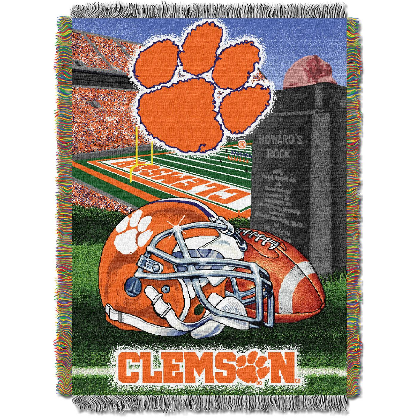 Ncaa Clemson Tigers Full Bed Set Orange Cotton Bedding: Clemson Tigers NCAA Woven Tapestry Throw Blanket