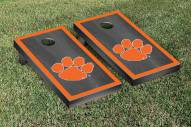 Clemson Tigers Onyx Stained Border Cornhole Game Set