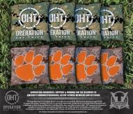 Clemson Tigers Operation Hat Trick Cornhole Bag Set
