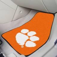 Clemson Tigers Orange 2-Piece Carpet Car Mats