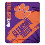 Clemson Tigers Painted Fleece Blanket