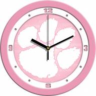 Clemson Tigers Pink Wall Clock