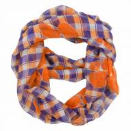Clemson Tigers Plaid Sheer Infinity Scarf