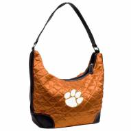 Clemson Tigers Quilted Hobo Handbag