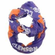Clemson Tigers Sheer Infinity Scarf