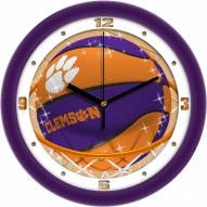 Clemson Tigers Slam Dunk Wall Clock