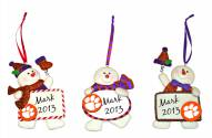 Clemson Tigers Snowman with Sign Ornament