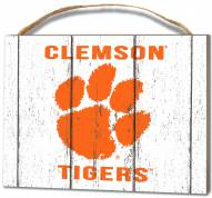 Clemson Tigers Weathered Logo Small Plaque
