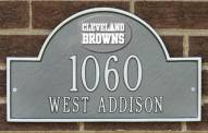 Cleveland Browns NFL Personalized Address Plaque - Pewter Silver