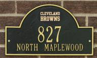 Cleveland Browns NFL Personalized Address Plaque - Black Gold