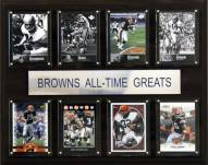 "Cleveland Browns 12"" x 15"" All-Time Greats Plaque"