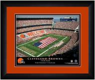 Cleveland Browns 13 x 16 Personalized Framed Stadium Print