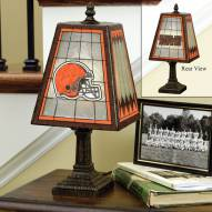Cleveland Browns Art Glass Table Lamp