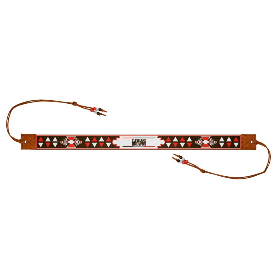 Cleveland Browns Beaded Headwrap