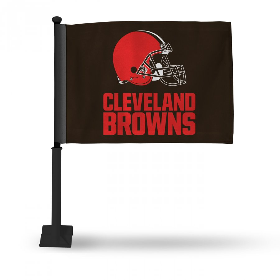Cleveland Browns Car Flag with Black Pole