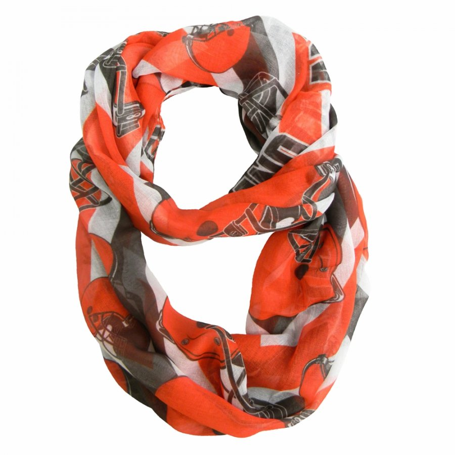 Cleveland Browns Chevron Sheer Infinity Scarf