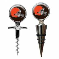 Cleveland Browns Cork Screw & Wine Bottle Topper Set