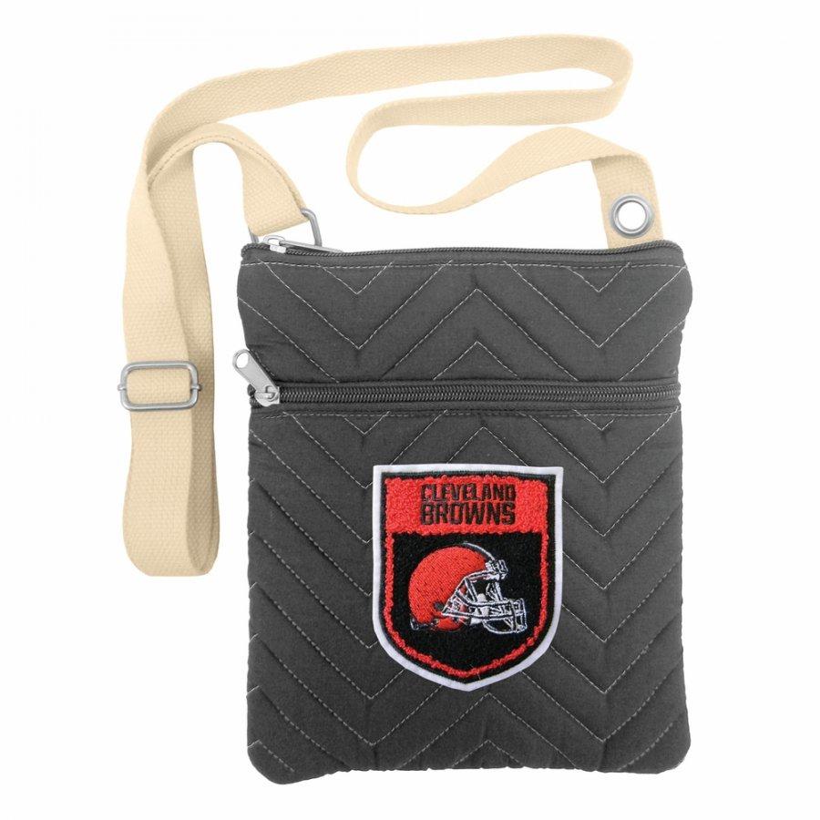 Cleveland Browns Crest Chevron Crossbody Bag