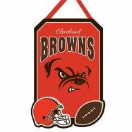 Cleveland Browns Felt Door Hanger