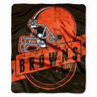 Cleveland Browns Grand Stand Raschel Throw Blanket