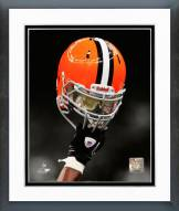 Cleveland Browns Helmet Spotlight Framed Photo