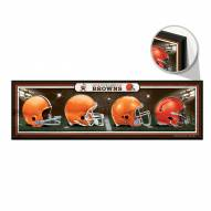 Cleveland Browns Helmets Wood Sign