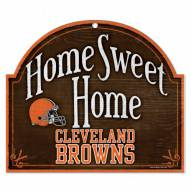 Cleveland Browns Home Sweet Home Arched Wood Sign