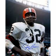 "Cleveland Browns Jim Brown Signed Rookie Close-Up w/ HOF 71 Signed 16"" x 20"" Photo"