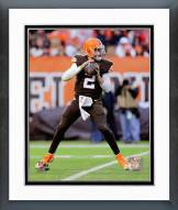 Cleveland Browns Johnny Manziel 2014 Action Framed Photo