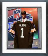 Cleveland Browns Justin Gilbert 2014 NFL Draft #8 Draft Pick Framed Photo