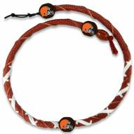 Cleveland Browns Leather Football Necklace