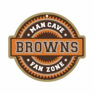 Cleveland Browns Man Cave Fan Zone Wood Sign