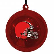 Cleveland Browns Mercury Glass Ornament