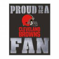 Cleveland Browns Metal LED Wall Sign